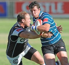 Ruhan Nel of Griquas on attack