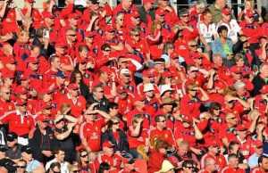 British and Irish Lions fans pack a stadium