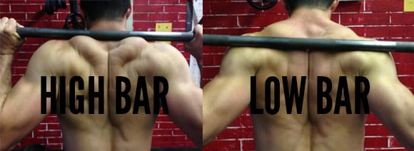 how to squat high bar low bar