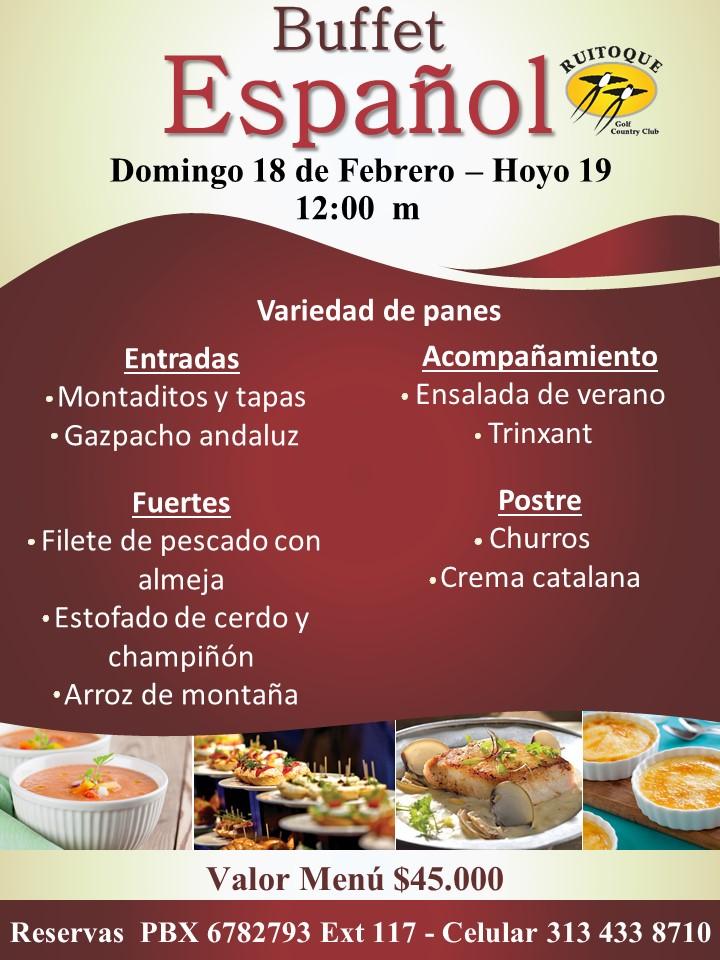 buffet español febrero 2018