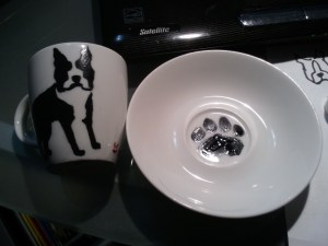 Boston Terrier Espresso Cup with Saucer Set