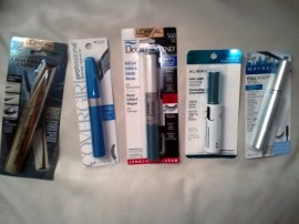 Photo of mascara trial test products