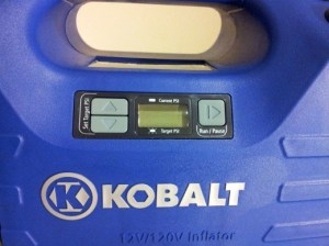 Photo of Kobalt Dual Power Inflator digital display