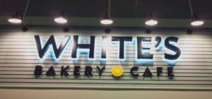whites bakery sign