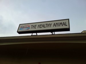 raw food diet the healthy animal store sign