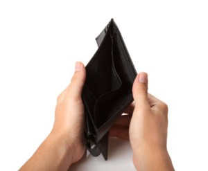 Photo of an empty wallet