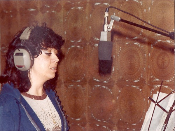 Singer Pat Coons records one of the two songs that she and her husband jim wrote for Runaway Nightmare