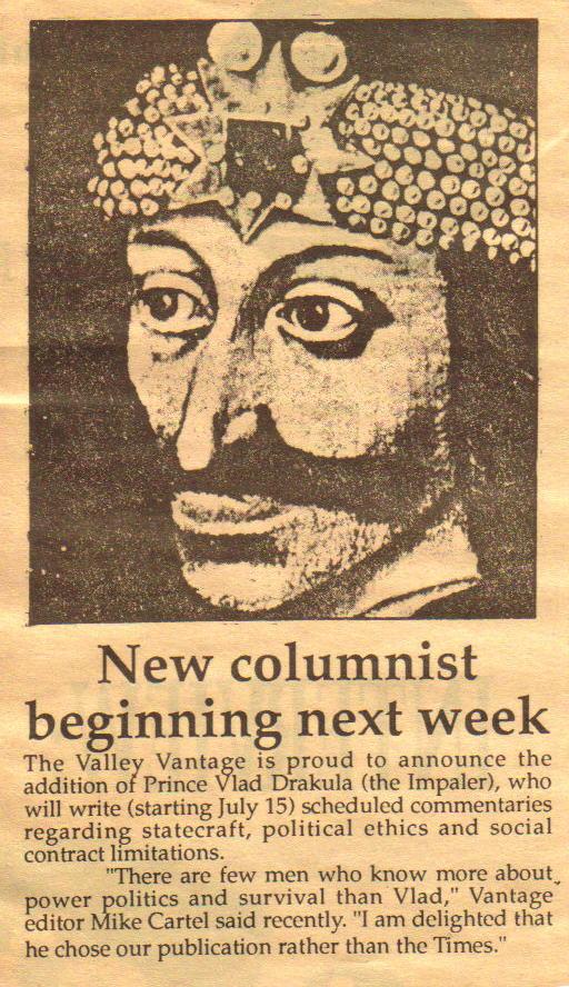 Columnist Vlad