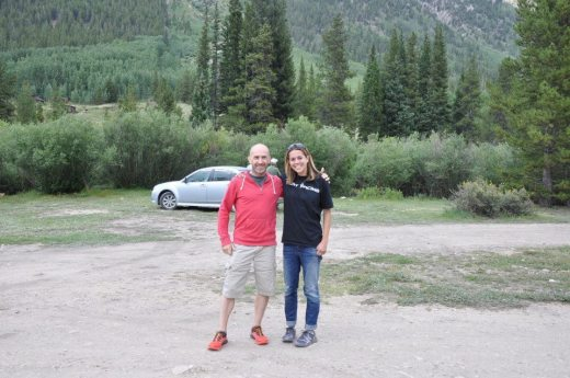 Checking out the mighty Hope Pass with Maddy Hribar