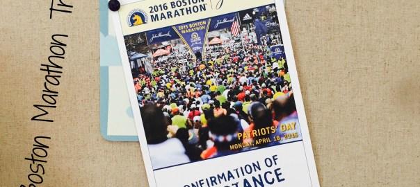 Boston Marathon Training 2016