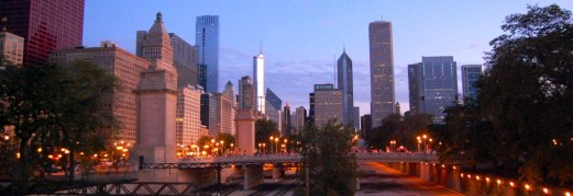 Chicago marathon, architecture