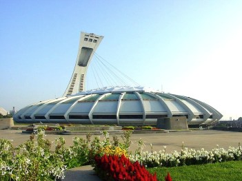 The 1976 Olympic Stadium was the finish for the OASIS Montreal Half-Marathon.