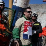 Edison Peña, center, ran every day while trapped in the mine. Photo by Hugo Infante/Government of Chile.