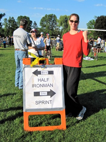 first triathlon, sprint