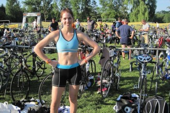 first triathlon, swim, bike, run