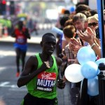 Emmanuel Mutai won the 2011 London Marathon with a new course record. Photo by EStepnist/FLickr.
