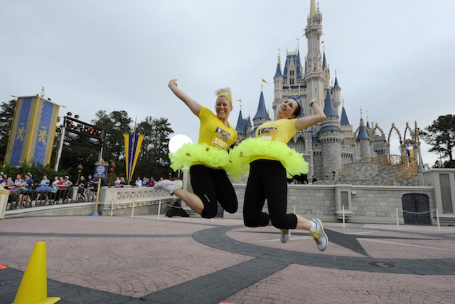 Runners leap at Cinderella Castle
