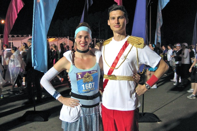 Cinderella and Prince Charming are ready to run