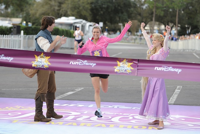 Tangled Royal Family 5K finish