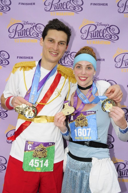 runDisney, Disney running, Disney's Princess Half Marathon, Coast-to-Coast Race Challenge, Cinderella and Prince Charming running costumes