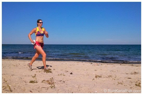 running on the beach, Cuttyhunk Island,