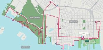 Newport Liberty Half Marathon course