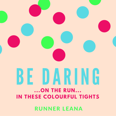 Be daring on the run in these colourful tights