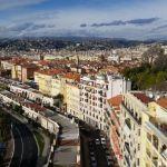 Blick von oben auf Nizza