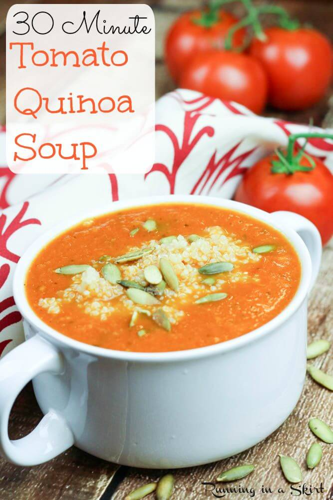 Tomato Quinoa Soup | Running in a Skirt