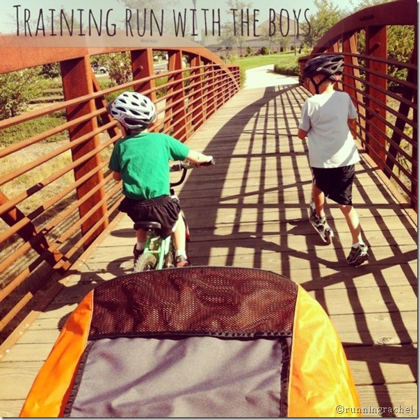 training run with kids, running with kids