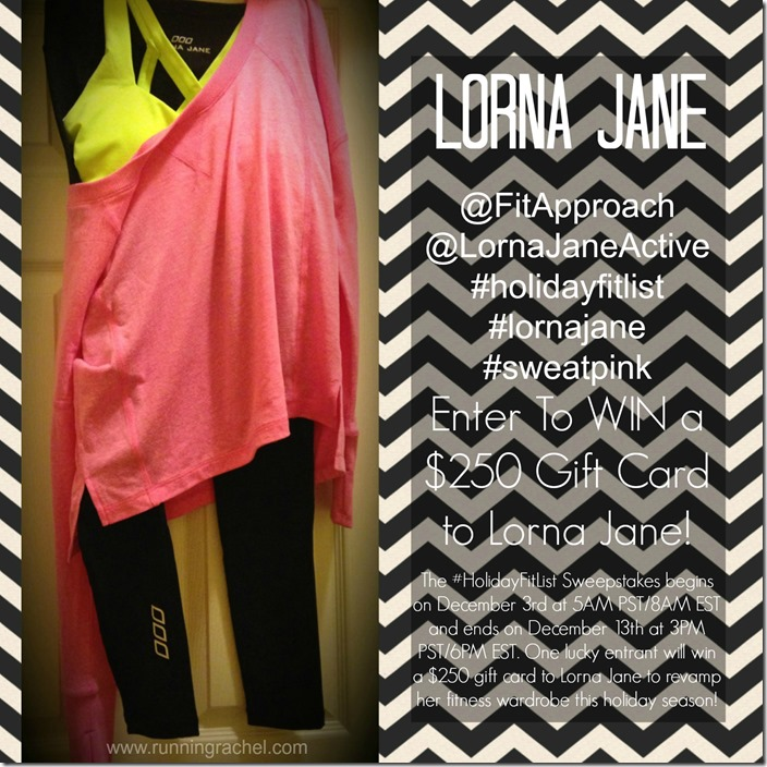 lorna jane, sweepstakes, holiday fit list, sweatpink,