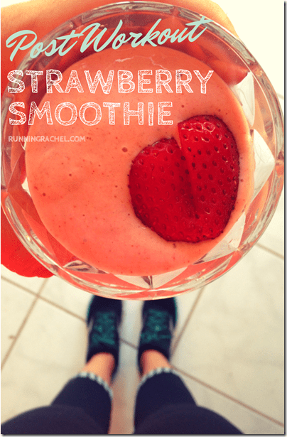 Post Workout Strawberry Banana Protein Smoothie