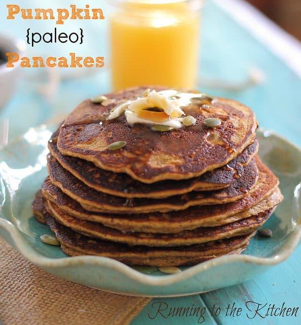 Paleo Corny Pumpkin Pancakes