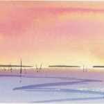 Watercolour painting. MLA007 Seascape 1 Artist: Maggie Latham