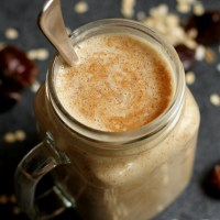 . salted caramel cookie dough smoothie .