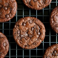 . flourless chocolate zucchini muffins .