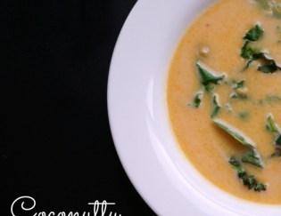 Coconutty Butternut Squash and Kale Soup