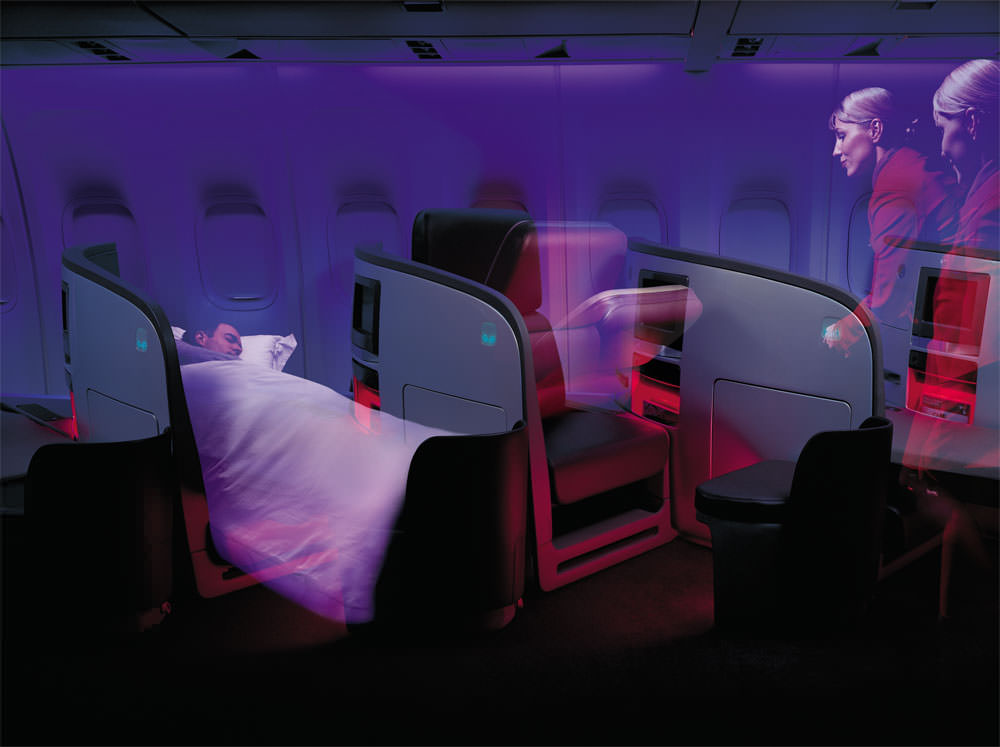 Virgin Atlantic debuted it's Upper Class on the 747. Image: VS