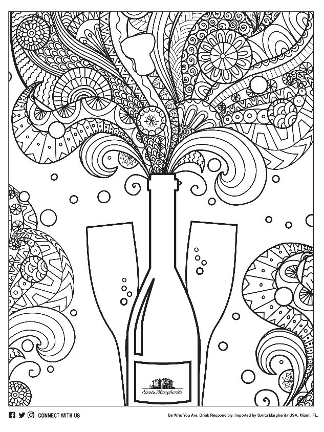 wine coloring book pages - photo#7