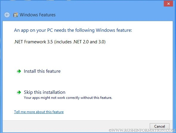 How to Install Microsoft .Net framework 3.5 without Internet Connection