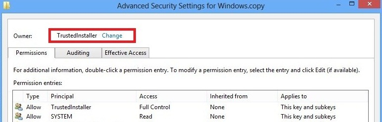 How to Take Ownership of Registry Key