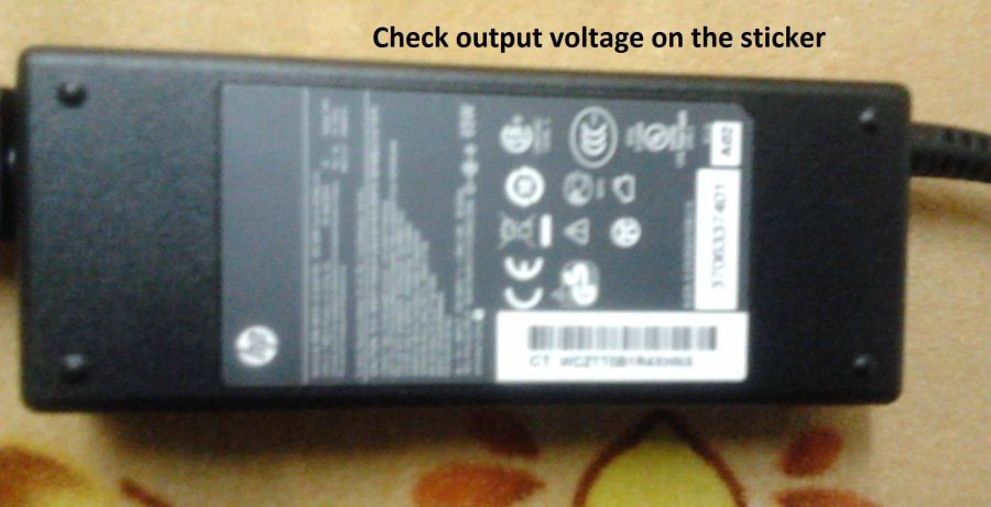 How to Test your laptop AC Power Adapter using Multimeter - Step 1