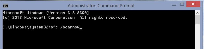 Windows 8 Activation Error 0xC004F074 - sfc /scannow Command