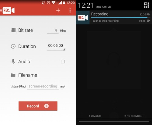 Best Screen recording Apps Android 2015 - Rec App