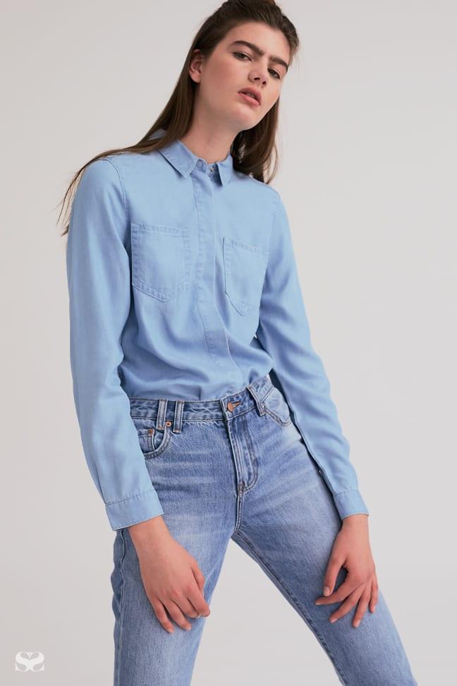 CALVIN KLEIN shirt, INSIGHT jeans.