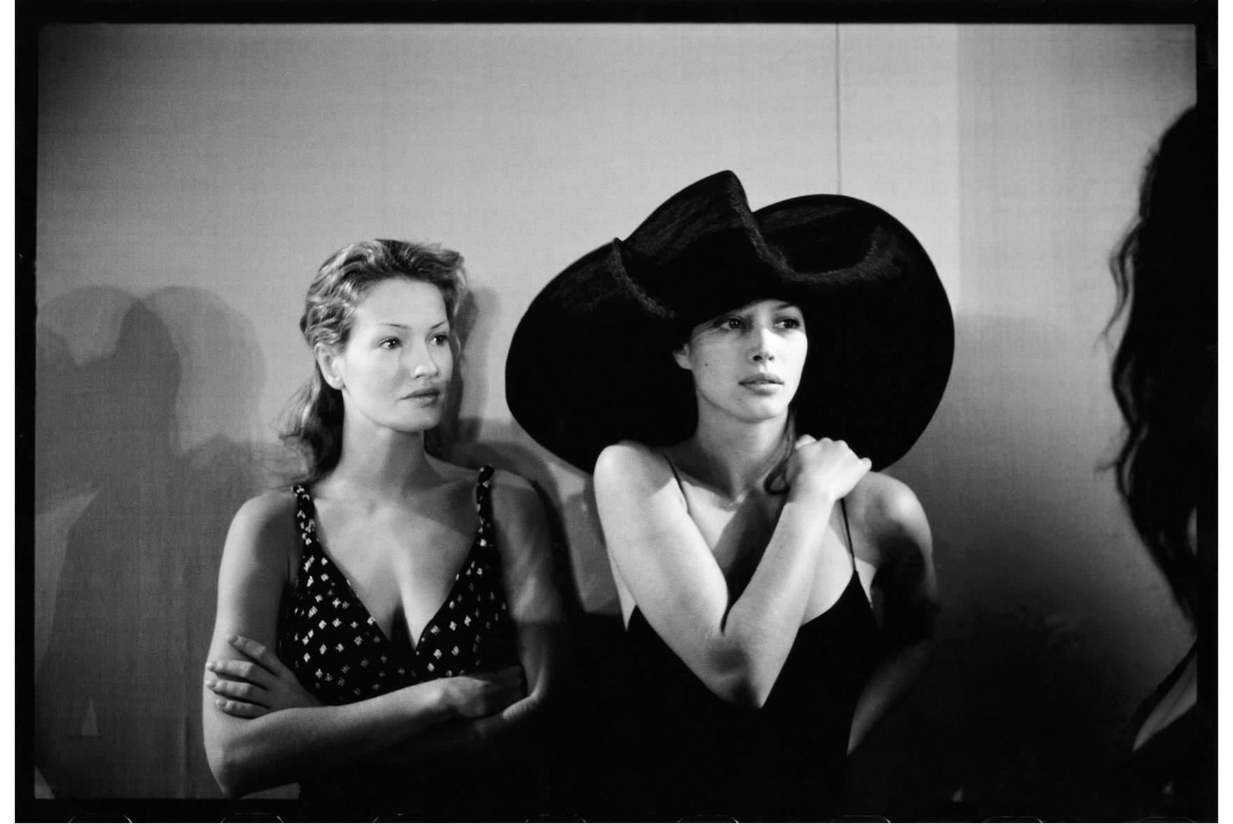 Karen Mulder and Christy Turlington.