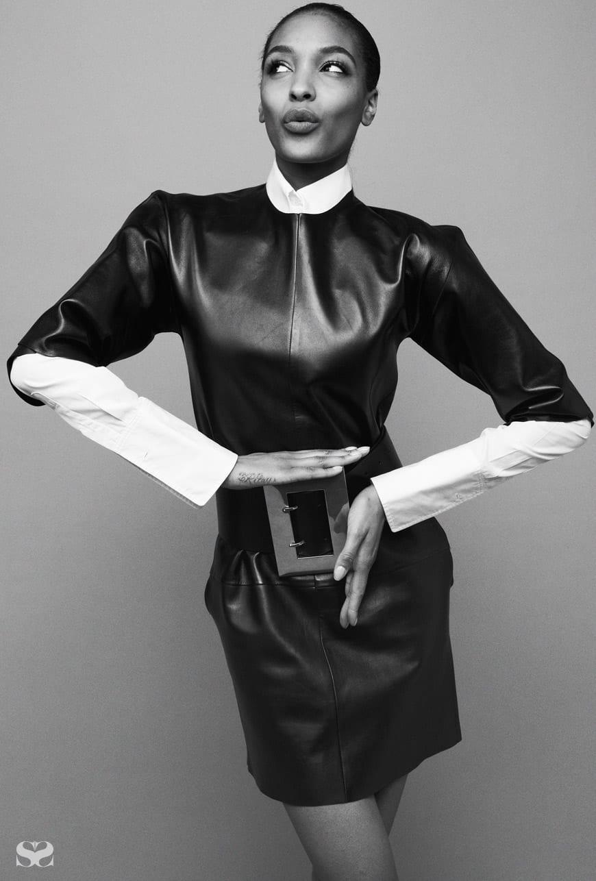 CÉLINE dress, shirt and belt.