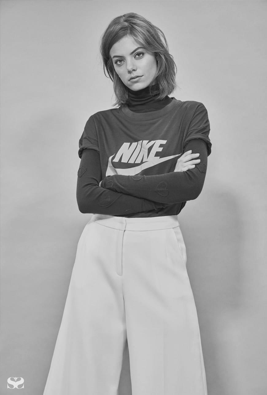 NIKE t-shirt; ZOE KARSSEN top; ANNA QUAN pants.