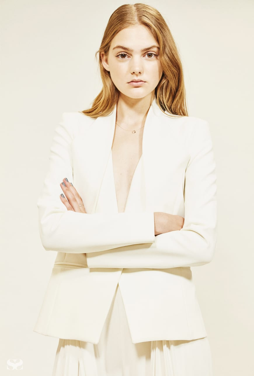 DION LEE jacket and pants.