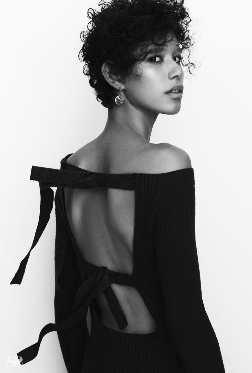 JASON WU dress; ERIN CONSIDINE earrings; CHARLOTTE CHESNAIS ring from Quiet Storms.